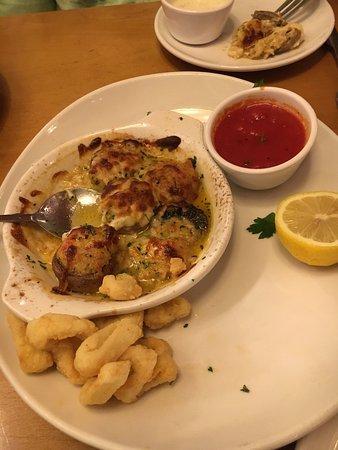 olive garden calamari and stuffed mushrooms delicious - Olive Garden Stuffed Mushrooms