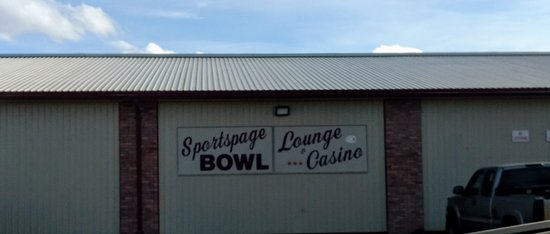 Polson, MT: North side entrance to Sportspage Bowl.