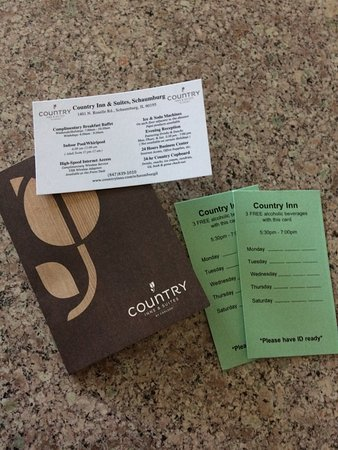 Country Inn & Suites By Carlson, Schaumburg : Free drink cards are excellent!