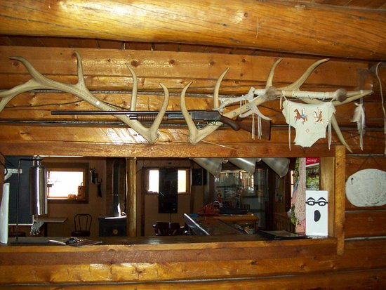 Centennial, WY: We're ALL about the Wyoming experience--antlers, guns, food, and plenty to drink!