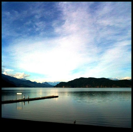Evening on Harrison Lake, from the Lakeshore in Harrison Hot Springs