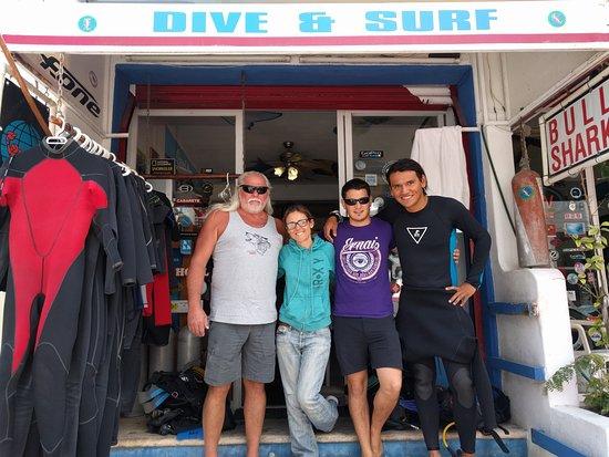 Dive Shop Mexico : Left to right, myself, Natalia, Arkaitz, and Ernesto (Neto)