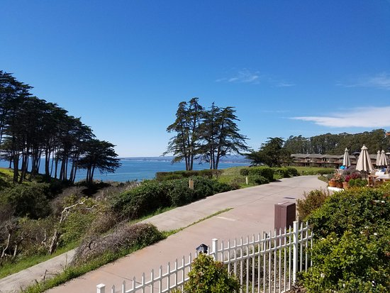 Aptos, CA: view from the pool deck
