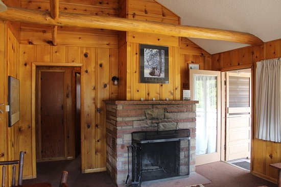 YMCA of the Rockies: Wood Fireplace