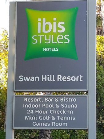 Swan Hill, Australia: Sign at the front