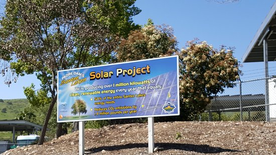 Santee, CA: Half the power needed is produced by solar panels