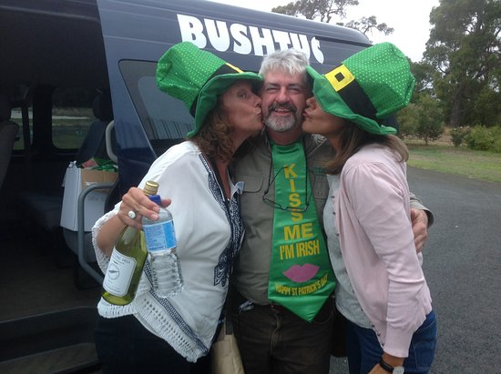 Bushtucker River & Wine Tours: Our visitors showing their appreciation (St Patrick's Day tour)