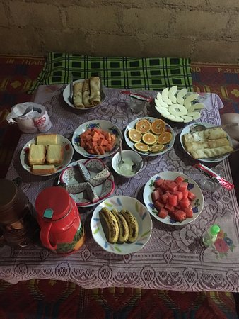 Kalaw, Birmania: Breakfast with pancakes