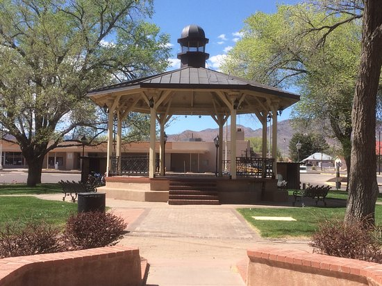 Bandstand/gazebo at Socorro's Historic Plaza