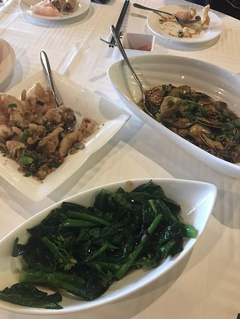 Salt and Pepper Live Spanner crab (seasonal) Live pippies in XO sauce, Chinese veggies and salt