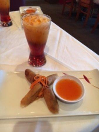 Duangrats: Thai Iced Tea, Spring Rolls