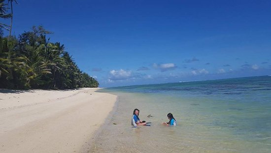 Just like being marooned on a desert island; but in style! Stunning Titikaveka beach pretty much
