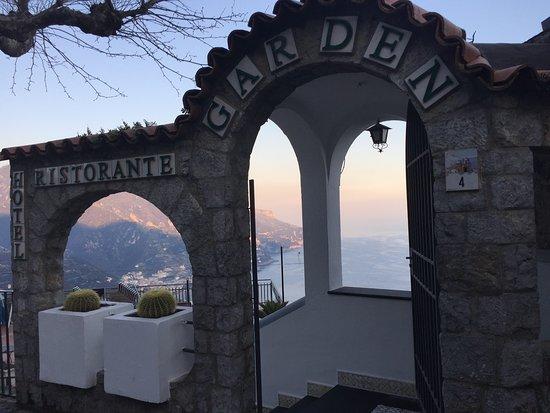 Garden Restaurant at sunset