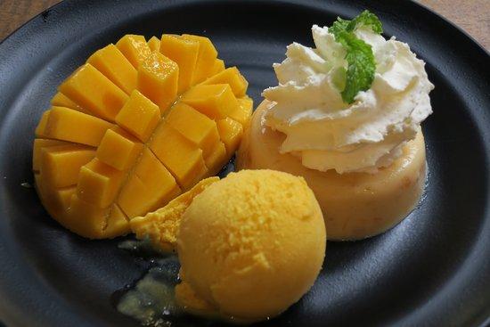 Mango Tango: 3種類楽しめるデザート
