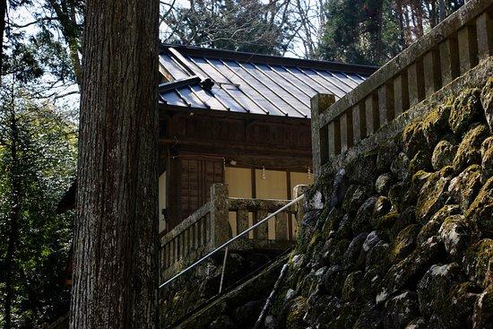 Asahi Taki Fall: 旭滝:大平神社の石垣