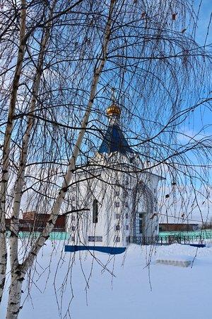 Gzhel, Ρωσία: Часовня вид с боку.