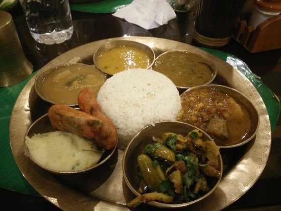 Assamese thali picture of gam 39 s delicacy guwahati for Assamese cuisine