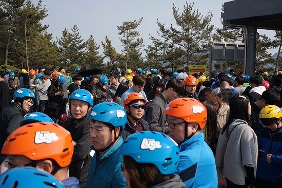 Tongyeong, Corea del Sur: 탑승장 대기
