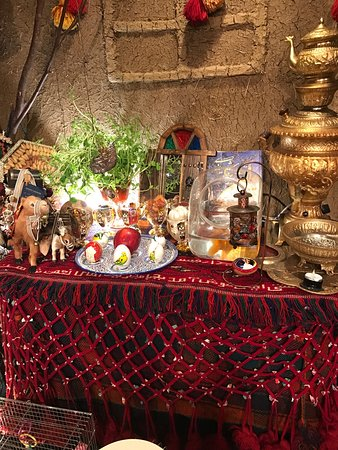 RESTAURANT&BAR BolBol: The Noruz (IRANIAN New year and first day of spring) table