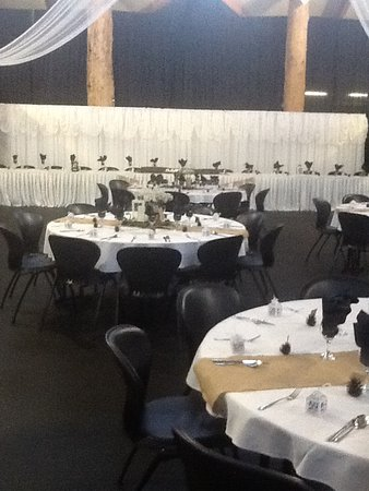 Latrobe, Australia: Wedding set up at The Axemans Hall of Fame
