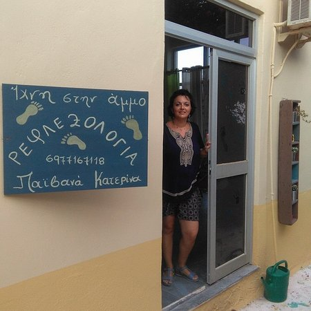 Katarina Paivana Reflexology: Katerina welcomes her customers.