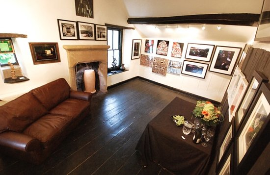 Skipton, UK: upstairs space, featuring changing exhibitions