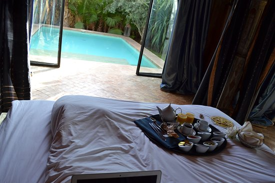 Lodge K Hotel & Spa: We got our breakfast served at our Lodge with private pool - amazing