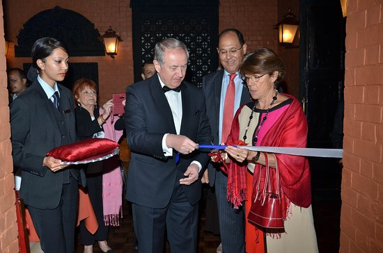 The Chimney Restaurant: Inauguration of Chimney Lighting by His Excellency Mr. Sergey V Velichkin