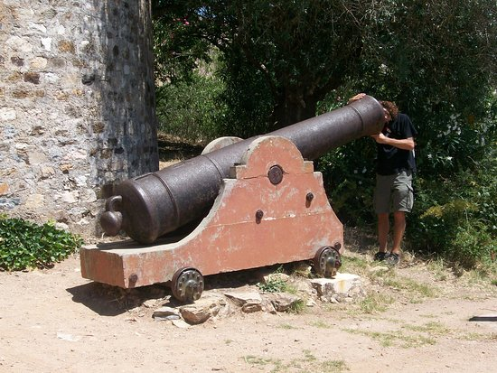 Vila Vicosa, Portugal: Un antico cannone a difesa del castello