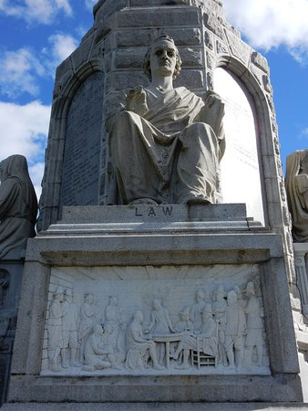 National Monument to the Forefathers: detail