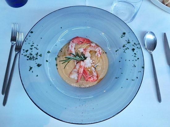 Montaione, Italia: Gamberi in crema di ceci (Buonissimo e molto delicato)!!!!