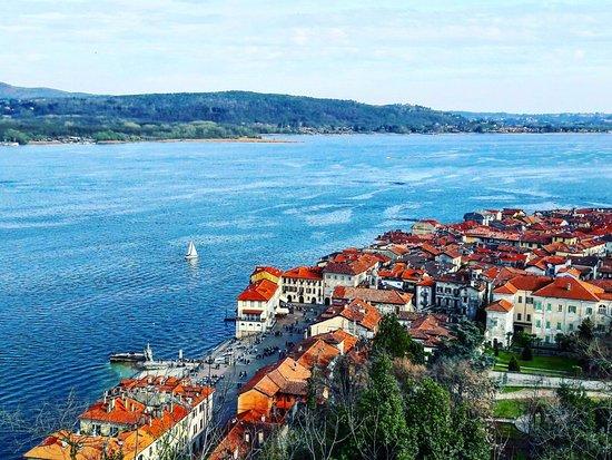 vista lago e arona dall alto picture of rocca borromea di arona
