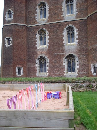 Tattershall, UK: Buckets and spades at the ready. Build your own castle.