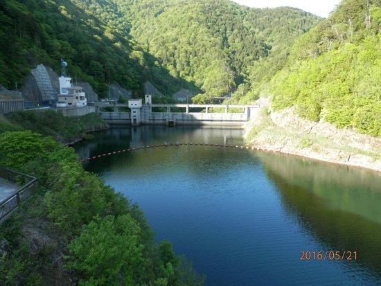 Mutsu, Jepang: 展望所からダム方向の眺め