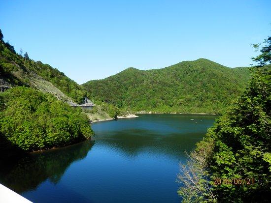 Mutsu, Jepang: 湖畔の風景