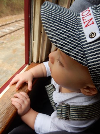 Rusk, Τέξας: My sons first train ride