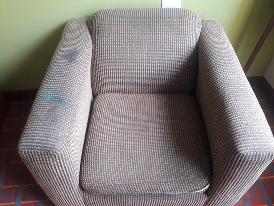 Stafford, TX: Yes, those are stains on the chair in the room.