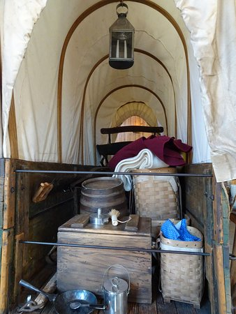 Mountainburg, AR: inside covered wagon