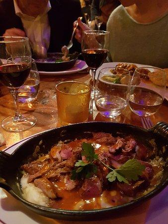 Menekse: aubergine and lamb in cheese sauce