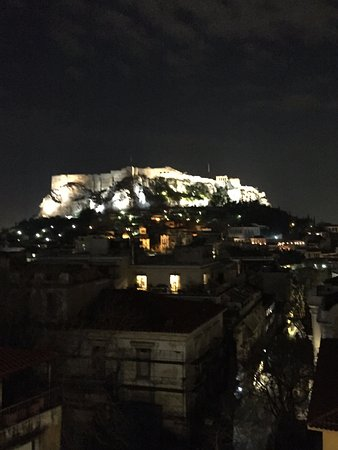 Electra Palace Athens: View from the rooftop restaurant