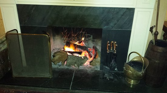 Lifton, UK: Open fire in the lounge