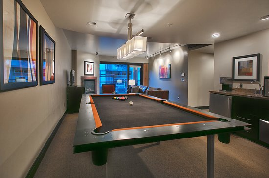 Main & SKY: Pool tables are available in a number of our units!