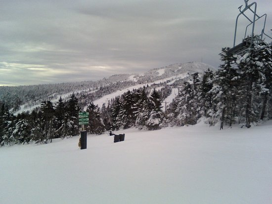 Killington Resort: View from the top of the Canyon Quad chair looking toward Cascade