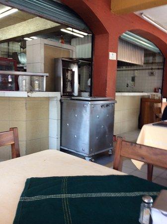 Los Portales: kitchen view
