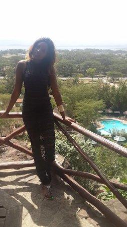 Lake Naivasha Panorama Park & Lodge: view from the the room