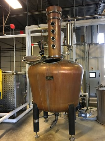 Manassas, VA: The distillation plant - side tube on the top is to infuse citrusy flavors to gin