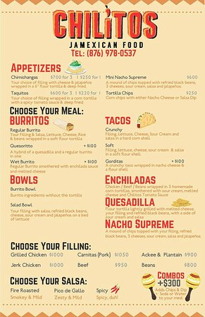 Chilitos JaMexican: Menu