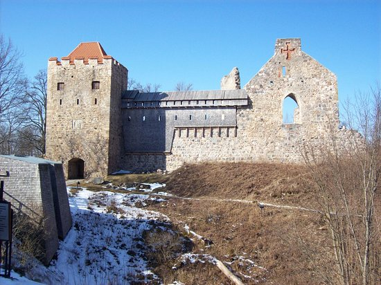 Sigulda, Latvia: Castle entrance