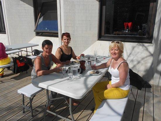 Les Villages Clubs du Soleil : déjeuné sur terrasse avec un temps magnifique!