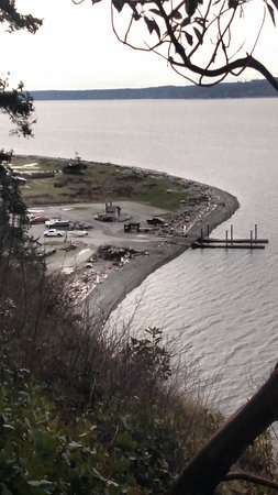 Camano Island, Вашингтон: Boat launch from one of the trails
